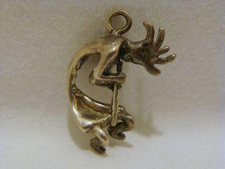 Masha Sterling Silver Kokopelli 3 D Pendant or Charm