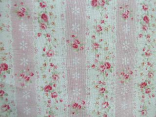 Mary Rose 2 Ticking Stripe Pink and Cream Quilt Gate Yd