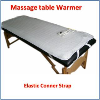Electric Massage Table Warmer Pad Fleece Blanket With Elastic Strap
