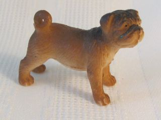Vintage Chinese Pug Mini Puppy Dutch Mastiff Bull Dog Pencil Topper 1