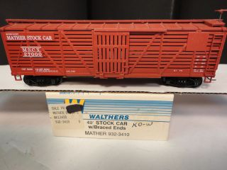 Mather 40 Stock Car w/ Braced Ends Rd#27000 Assemble Kit Walthers stk
