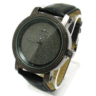 Black Genuine Diamond Master Mens Watch RW016