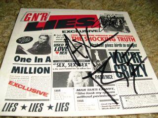 Guns N Roses Signed Slash Signed AXL Rose Signed