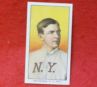 1909 11 T206 CHRISTY MATHEWSON hof BASEBALL ball CARD vtg old 1911 ty