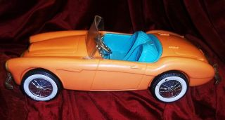 Barbie Doll Mattel Irwin Austin Healey 1960 Sports Race Car Toy Scale