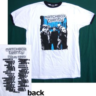 Matchbox Twenty 2003 Tour White Ringer T Shirt Medium New