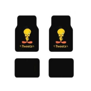 ™ Tweety Bird™ Mat 4 PC Pads Liner Car Floor Mats Fit Std