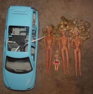 Mattel Barbie Mixed Lot of Volvo 30 Dolls