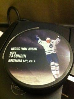 2012 Hockey Hall of Fame Mats Sundin Toronto Maple Leafs Sweden