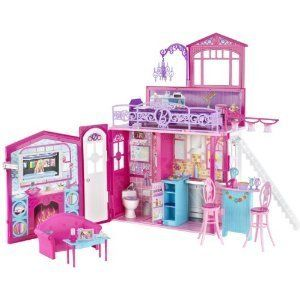 Mattel Barbie Girls Kit Furniture Decorator Glam Dollhouse Doll