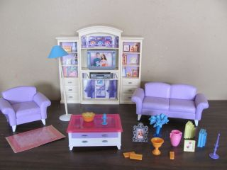 Mattel Barbie Doll House Living Room Furniture Dollhouse Playset