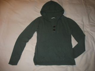 Junior Girls Sz L Large Maurices Teal Green Hoodie Sweater Fitted