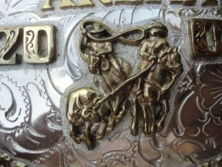 Western Collectible Team Roping Rodeo Trophy Buckle by Maynard