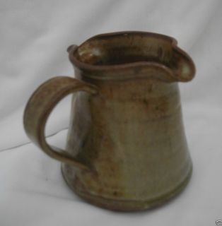 signed FLAMEWARE Small Handled Double Spout Pitcher Server Creamer
