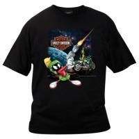 WB Looney Tunes Dealer Tee Shirt Marvin The Martian Black