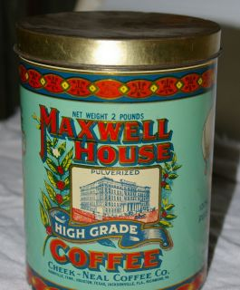 Maxwell House High Grade Coffee Tin 1979