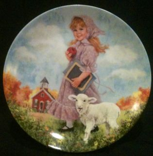 """8½"""" Mary Had A Little Lamb Plate 7th Issue Mother GOOSE Paint by"""