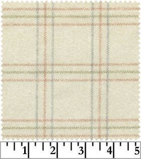 Maywood Studios Woolies Flannel Fabric Cream Blue Green Pink Plaid 1