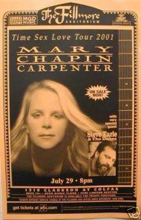 Mary Chapin Carpenter 2001 Denver Concert Tour Poster