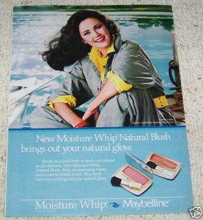 1985 Maybelline Cosmetics Make Up 1pg Ad Lynda Carter