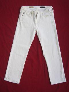 AG Adriano Goldschmied The Capri White Crop Jeans Sz 27 R