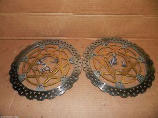 04 05 Kawasaki ZX10R Front Brake Rotors Discs Left Right 2004 2005 ZX
