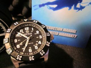 DEEP BLUE DIVE Watch mb Microtec H3 Tritium Tube Dial   Day Night T25