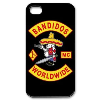 BANDIDOS MC WORLDWIDE Motorcycle Club iPhone 4 4S Hard Case Cover