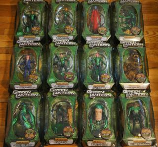 Green Lantern Movie Masters Full Set of 12 New Parallax Build A Figure