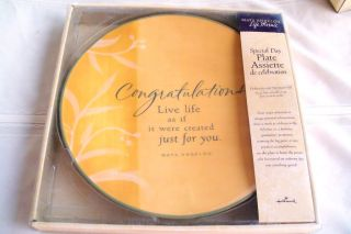 Maya Angelou SPECIAL DAY PLATE Life Mosaic Hallmark 2004  11 New in