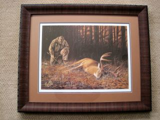 FRAMED Thank You God Whitetail Deer Hunting Print by Desmond McCaffrey