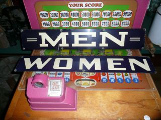 Vintage Gas Oil Station Restroom Signs Mens and Womens not Porcelain