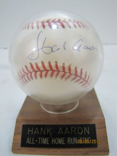 Hank Aaron All Time Home Run King Baseball Autograph Rawlings William