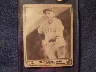 William Bill McKechnie 1940 Play Ball Card 153 in Screwdown Cincinnati