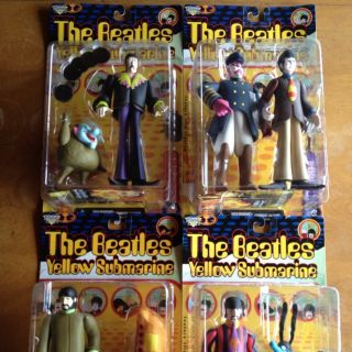 Beatles Yellow Submarine McFarland Figures SEALED Set of 4 Early Paul