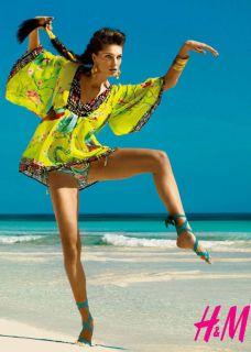Matthew Williamson for H M Boho hippie parrot tunic blouse kaftan Sold