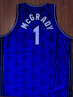 Vintage Reebok Tracy McGrady Orlando Magic Blue Stars Throwback Jersey