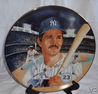 Don Mattingly New York Yankees Gold Edition Porcelain Collectors Plate