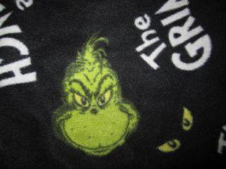 Meany Grinch Stole Christmas Dr. Seuss Sleep Lounge Pants Large FLEECE