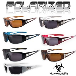 Biohazard Mens Polarized White Brown Black Blue Red Gray White