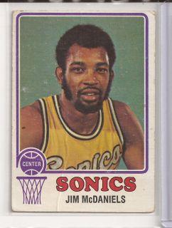 1973 Jim McDaniels Topps Card 152 Seattle Sonics