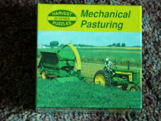 JD Puzzle John Deere 620 Tractor w No 15 Rotary Chopper MECHANICAL