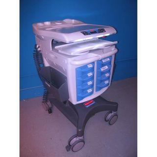 Adjustable Hospital Mobile Medication Cart with 60 Day Warranty