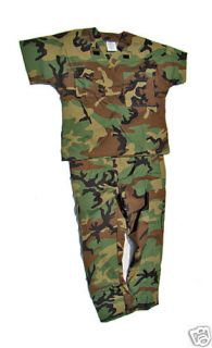 Large New BDU Forest Camo Military Scrub Set by Gocurda
