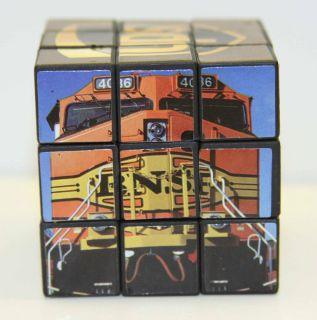 BNSF PUZZLE CUBE (RUBIKS CUBE) 2004 BNSF / UPS PEAK SEASON EMPLOYEE