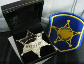 SHERIFF MAYBERRY BADGE using original tv show badge art prop Andy