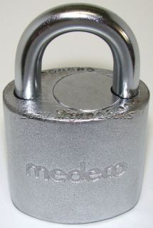 Medeco Biaxial High Security Padlock Lock 1980s with 17 Hardened Steel