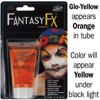 Water Base Mehron Fantasy FX Makeup Face Paint Black Light