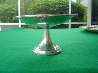 Wallace Sterling Weighted Meadow Rose H221 Candy Dish Use Scrap