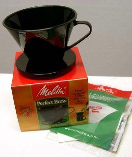 Melitta Perfect Brew Cone Filter Cup Coffee Maker Black